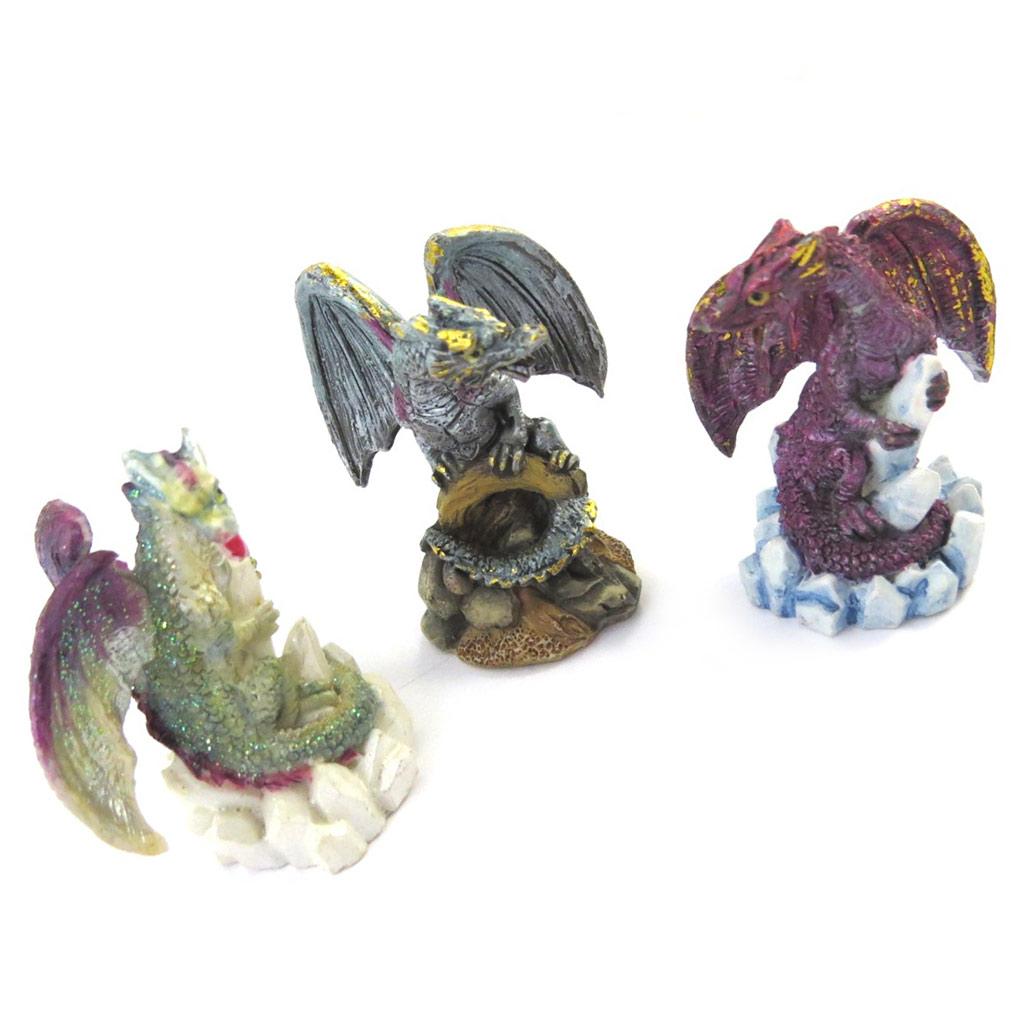 3 figurines \'Dragons Mystiques\' tutti frutti - [M3267]