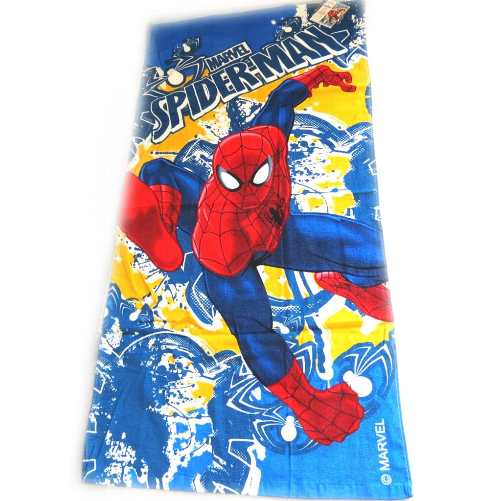 Drap de plage \'Spiderman\' bleu rouge (70x140 cm) - [M3344]