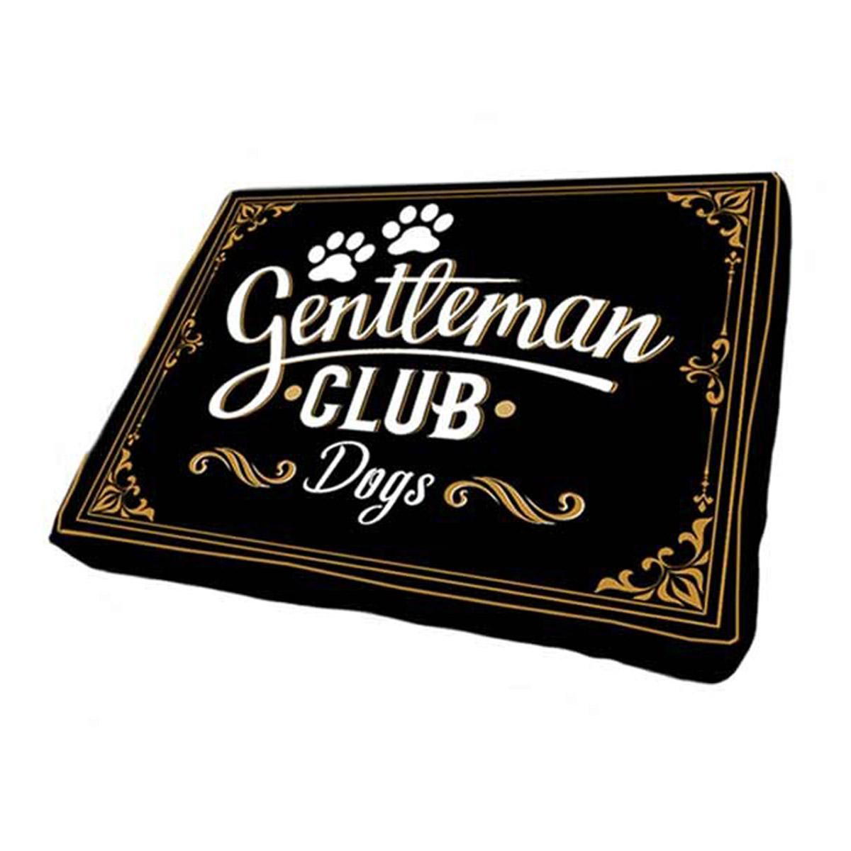 Coussin pour chien \'Gentleman Club - Dogs\' noir - 75x50x14 cm - [Q5139]