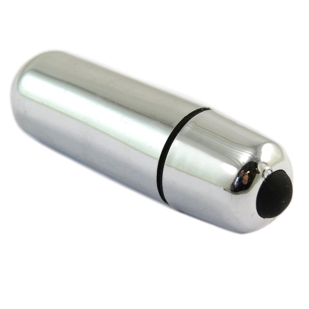 Mini vibromasseur \'Ovni\' argenté - 6 cm - [Q5159]
