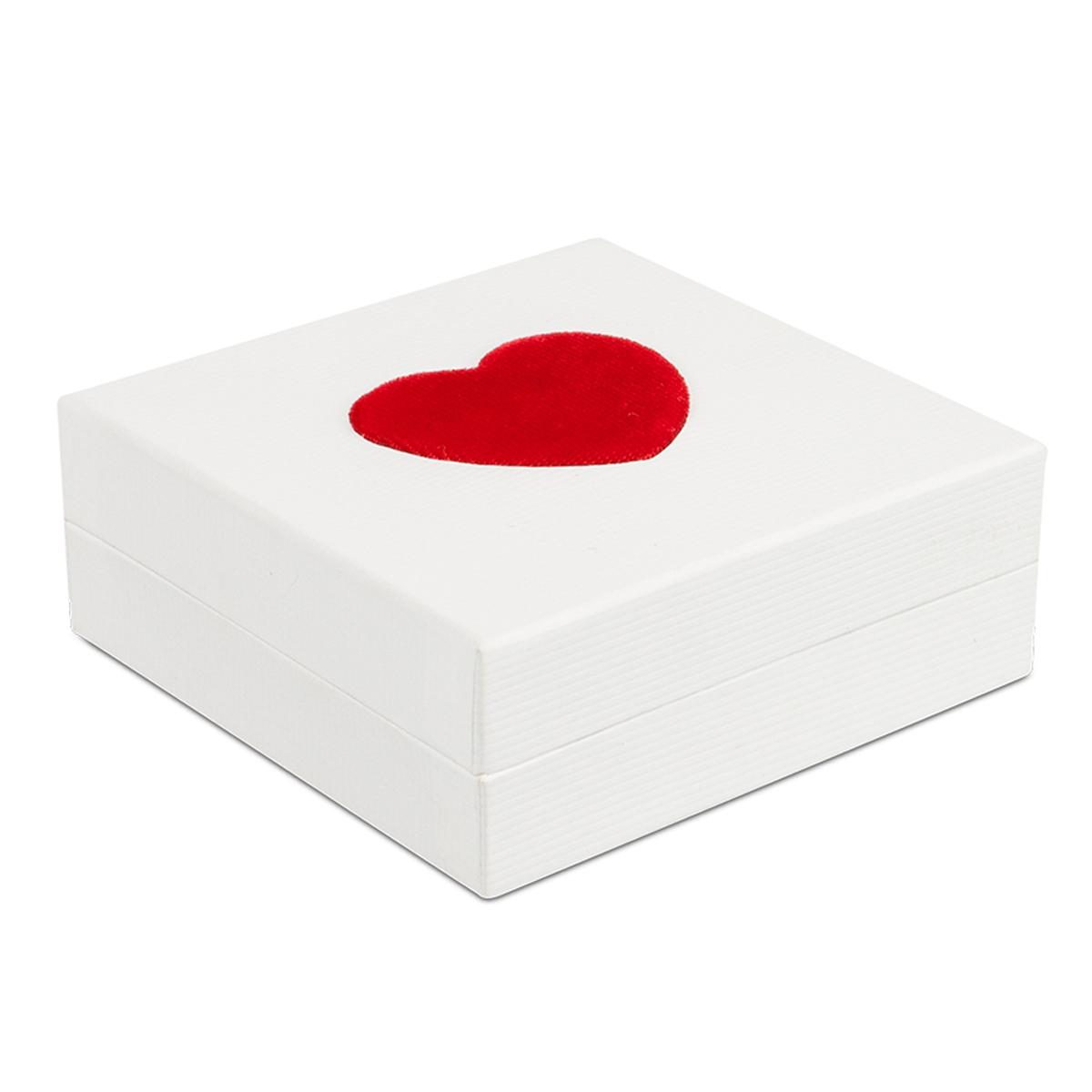 Ecrin Pendentif \'Love\' blanc rouge (9 cm) - [N3655]