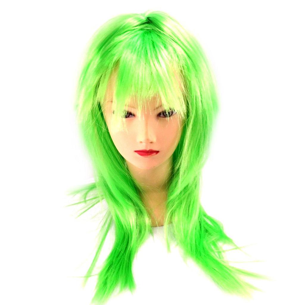 Perruque \'Coloriage\' vert (65 cm) - [L3082]