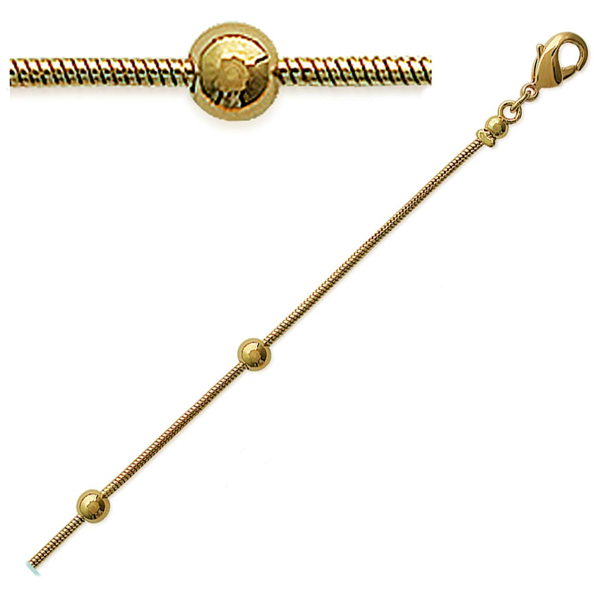 Bracelet \'Gouttes parsemées\' Plaqué or - [A0188]