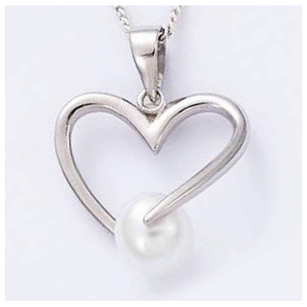Pendentif Argent \'Love\' blanc argenté (rhodié) - 20x20 mm - [H2634]