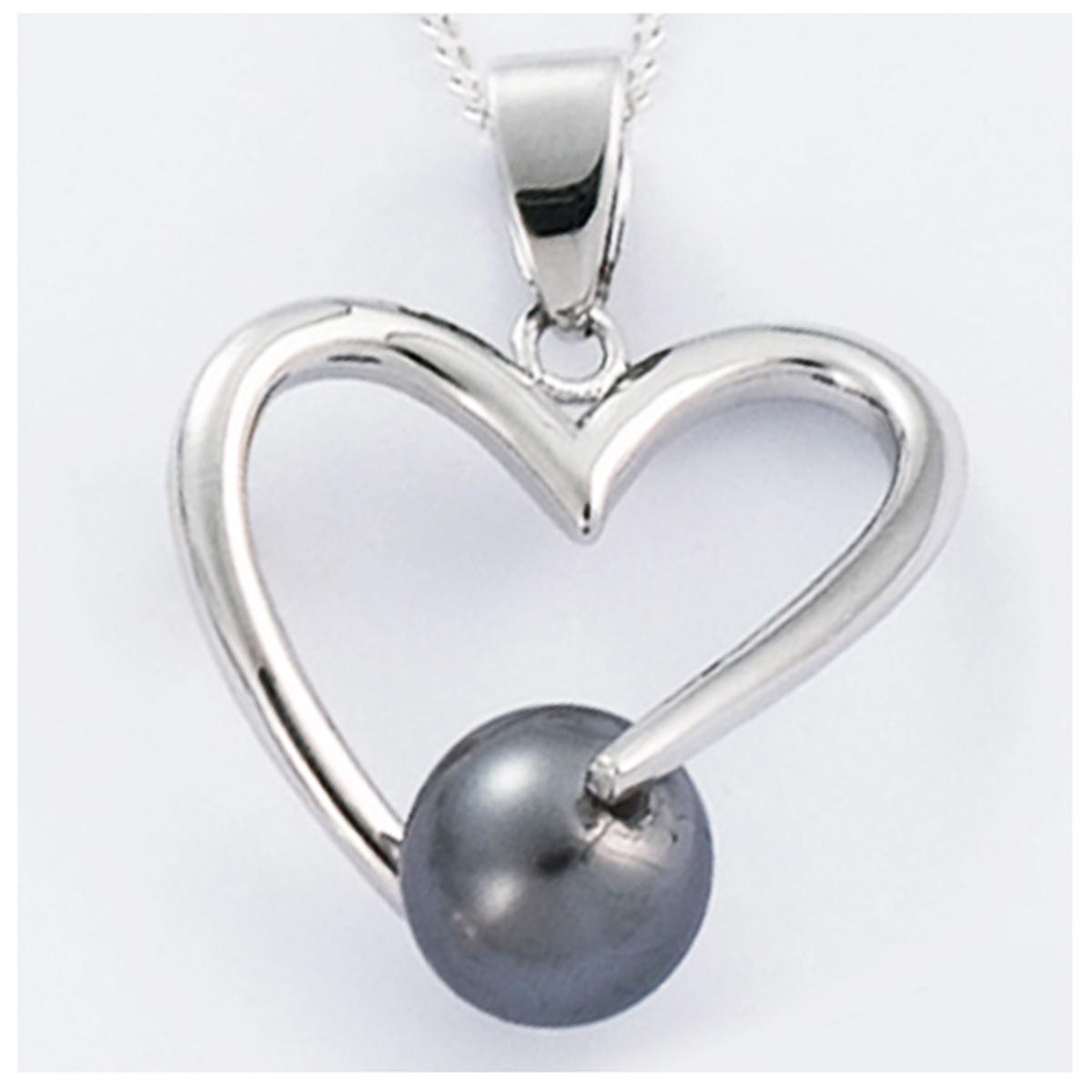 Pendentif Argent \'Love\' gris argenté (rhodié) - 20x20 mm - [H2635]