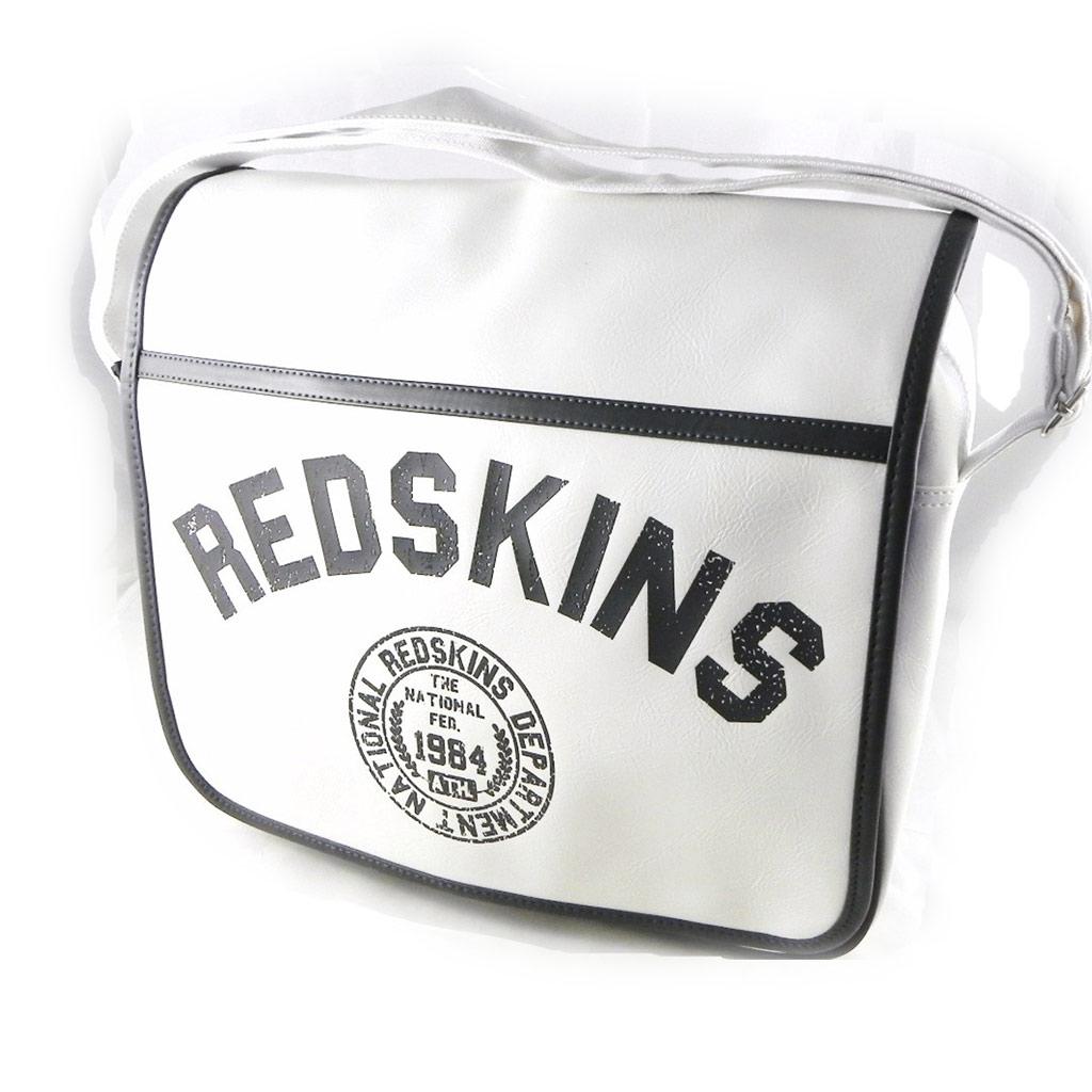 Sac bandoulière \'Redskins\' blanc brillant - [H7026]