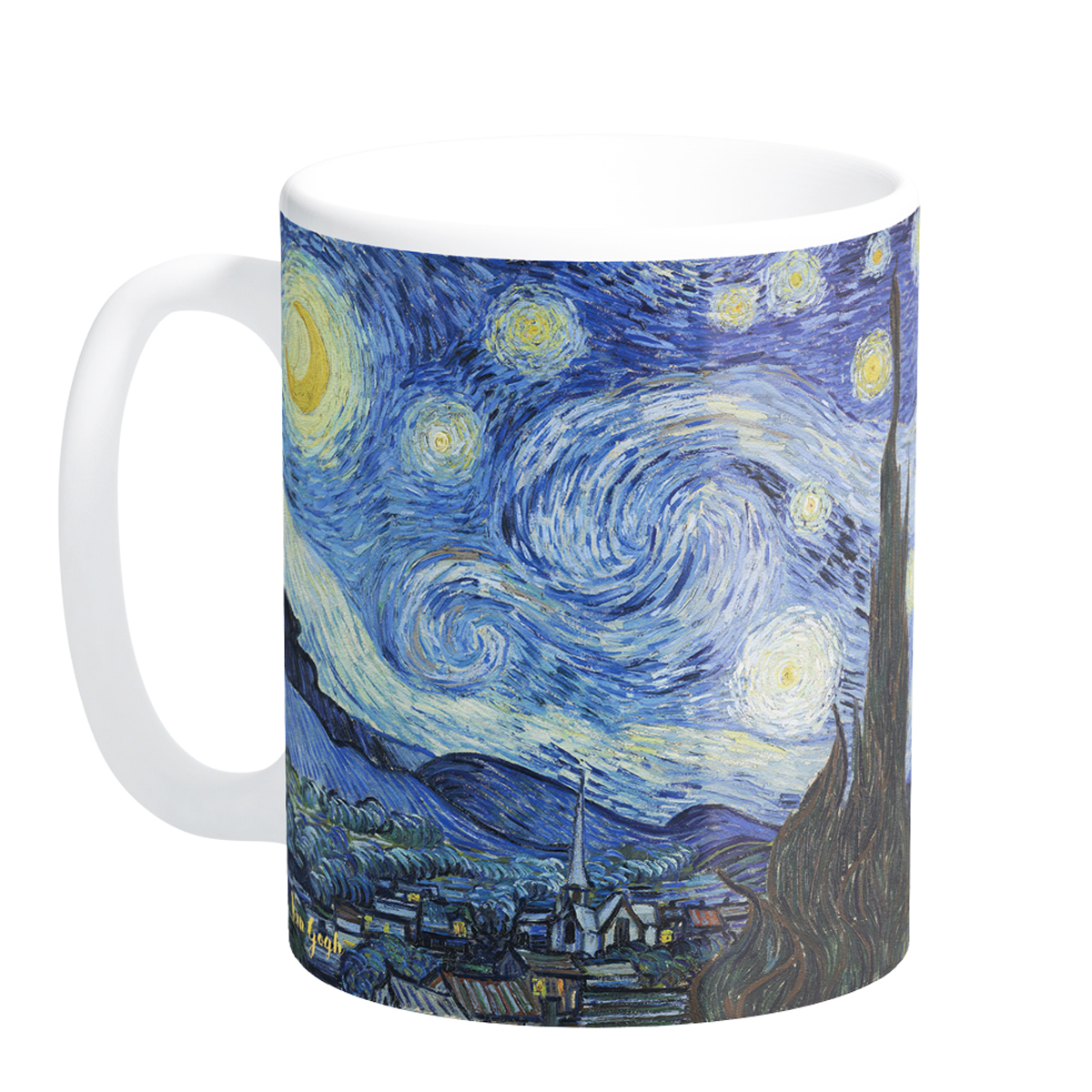 Mug céramique \'Vincent Van Gogh\' (La Nuit Etoilée) - 95x8 cm - [Q9261]