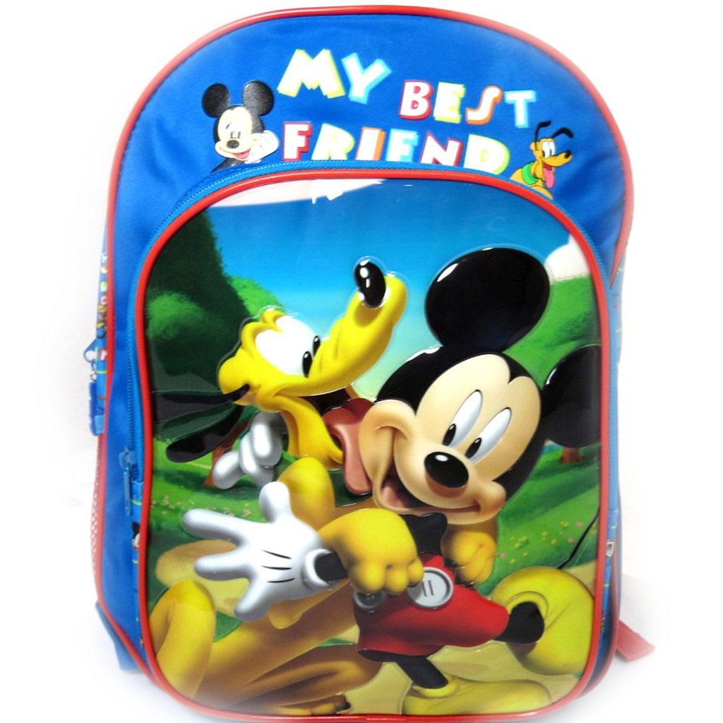 Sac à dos enfant \'Mickey\' bleu - [L0311]