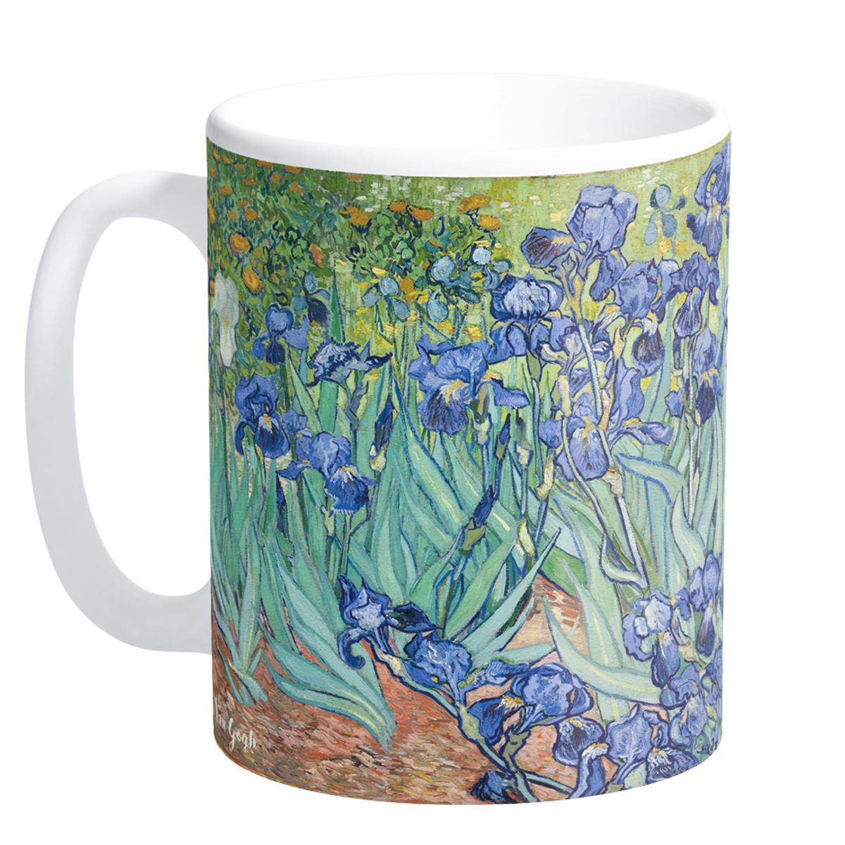 Mug céramique \'Vincent Van Gogh\' (Iris) - 95x8 cm - [Q9262]