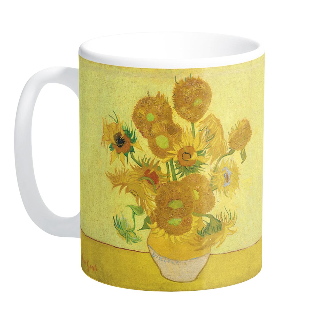 Mug céramique \'Vincent Van Gogh\' (Les Tournesols) - 95x8 cm - [Q9264]