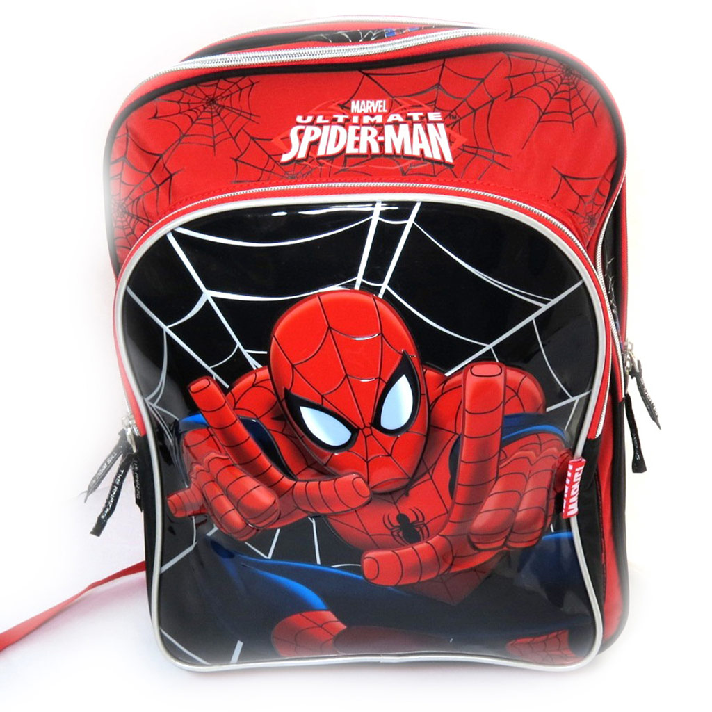 Sac à Dos \'Spiderman\' rouge noir (42 cm) - [L0315]