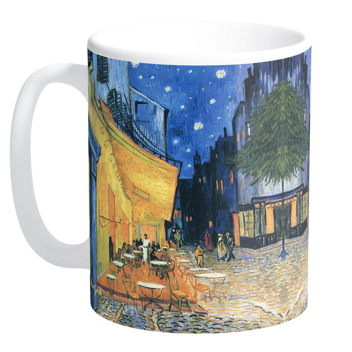 Mug céramique \'Vincent Van Gogh\' (Terrasse du café le soir) - 95x8 cm - [Q9265]