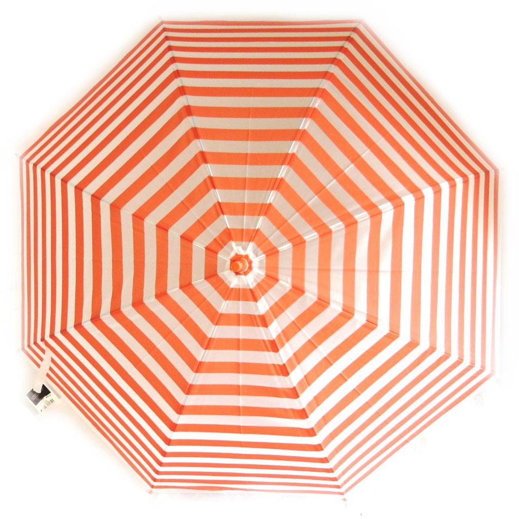 Parapluie créateur \'Singing in the rain\' orange  transparent - 85 cm - [M6339]