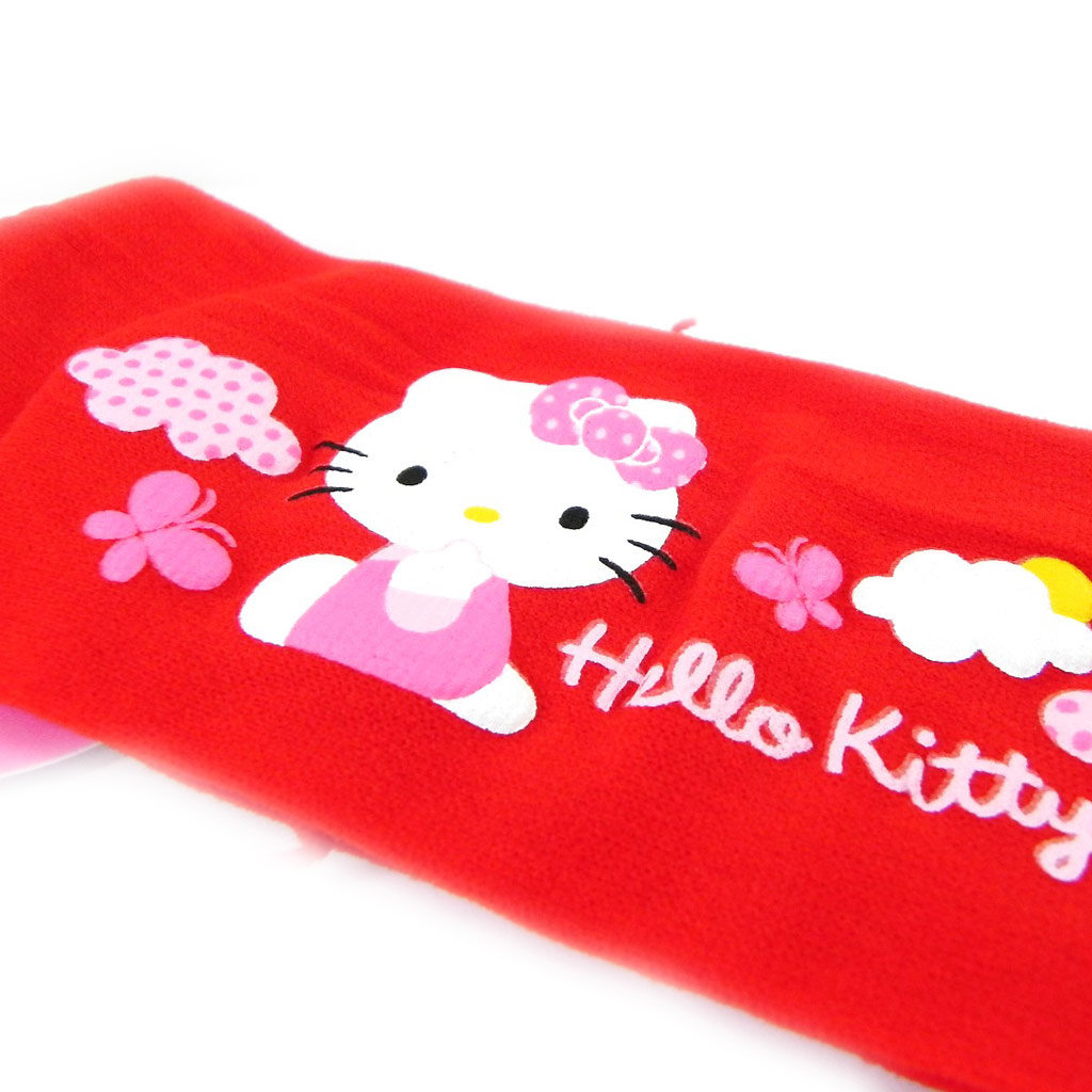 Bandeau \'Hello Kitty\' rouge vif - [H7244]