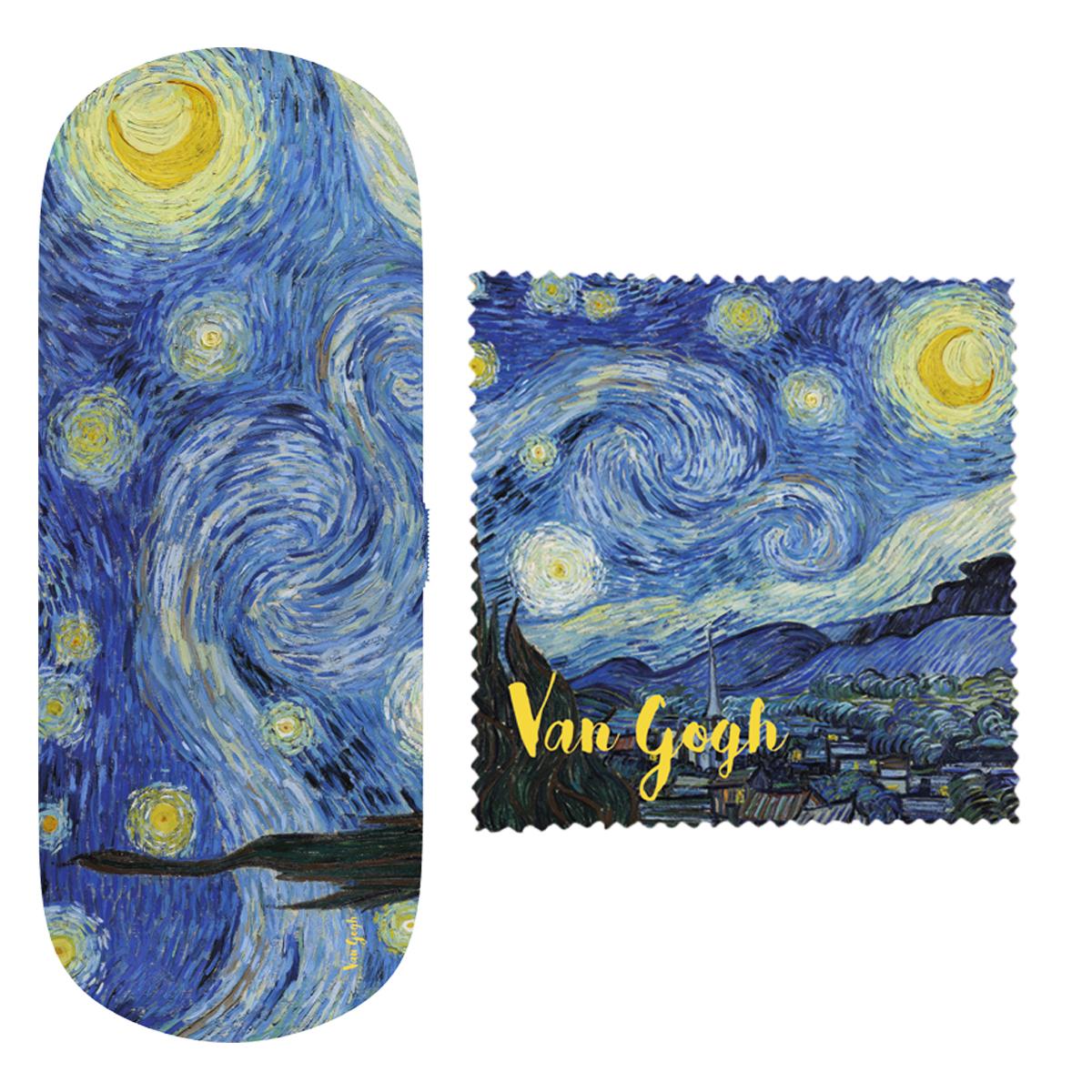 Etui à lunettes \'Vincent Van Gogh\' (La Nuit Etoilée) - 16x6x36 cm - [Q9270]