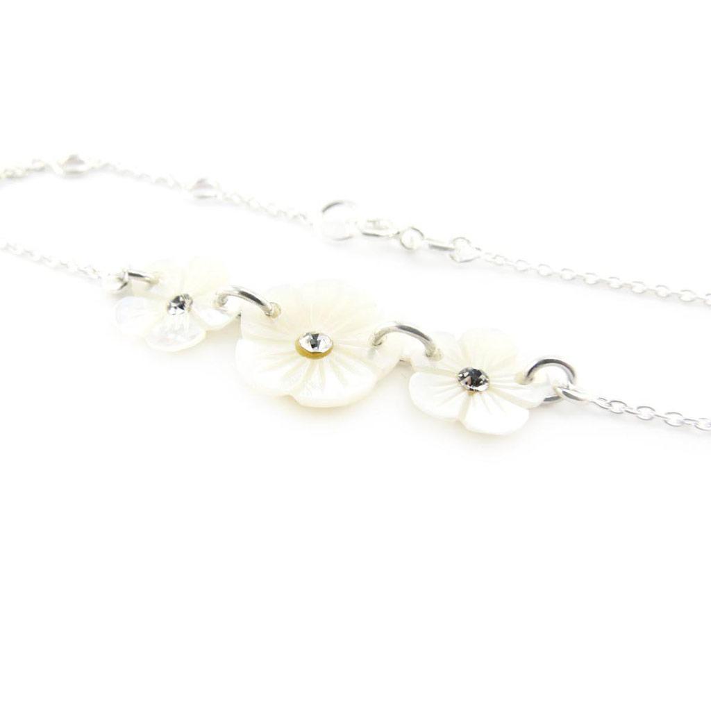 Bracelet Argent \'Flora\' nacre - [J2086]