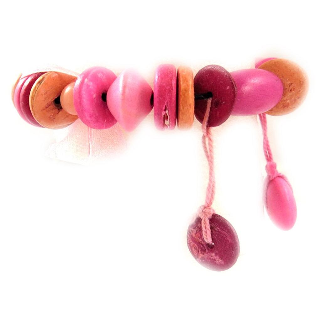 Bracelet \'Coco Tahiti\' Rose  - [D0826]