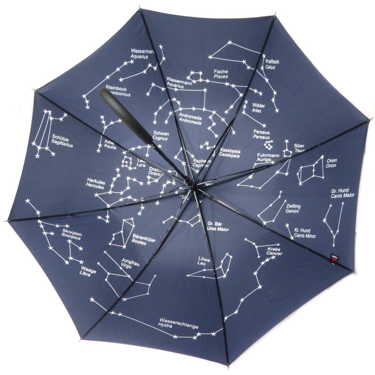 Parapluie canne \'Constellations\' marine - 88 cm - [Q0164]
