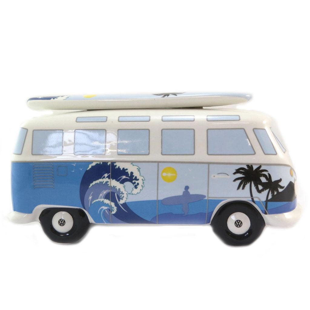 Tirelire céramique \'Volkswagen\' bleu blanc - 24x105x95 cm - [P5691]