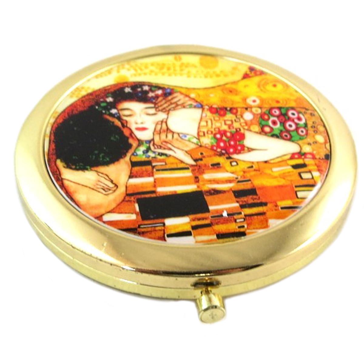 Miroir collector \'Gustav Klimt\' (Le Baiser) - 7 cm - [Q0179]