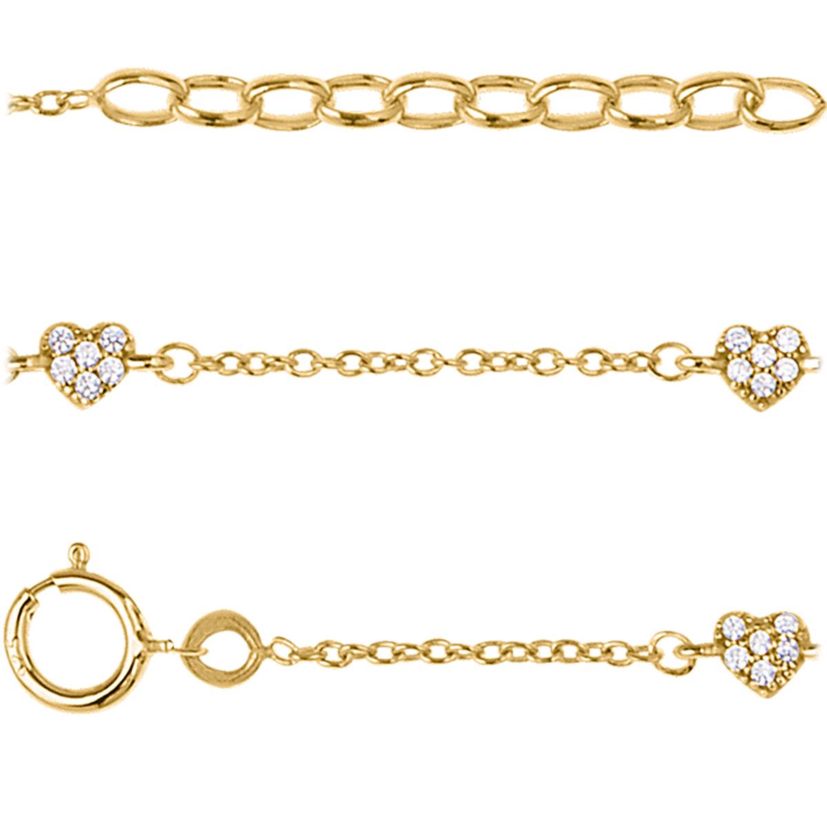Bracelet plaqué or \'Love\' blanc doré - 3 mm - [Q7956]
