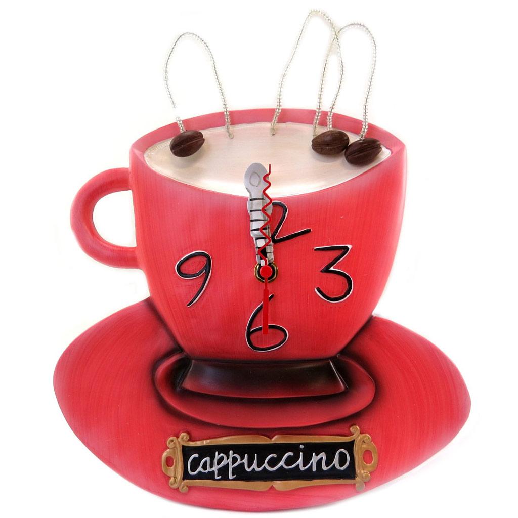 Horloge Murale \'Allen Designs\' Capuccino rouge - 39x25 cm - [P5702]