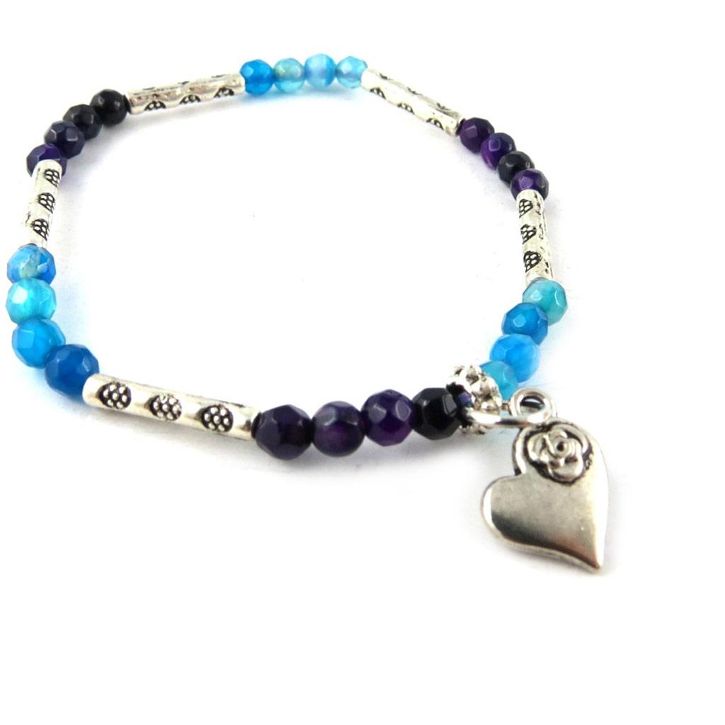 Bracelet \'Minéralia\' bleu violet - [K7635]