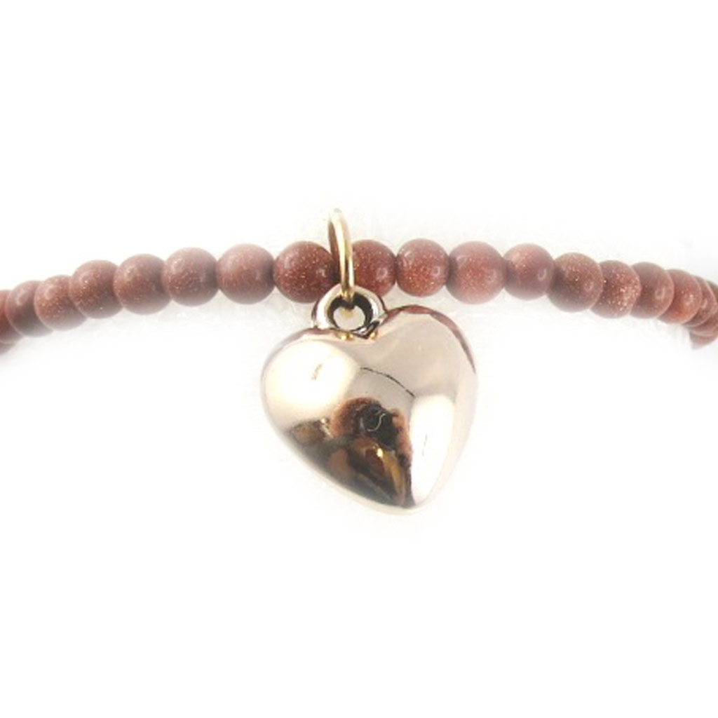 Bracelet \'Minéralia\' marron (coeur) - [K7637]