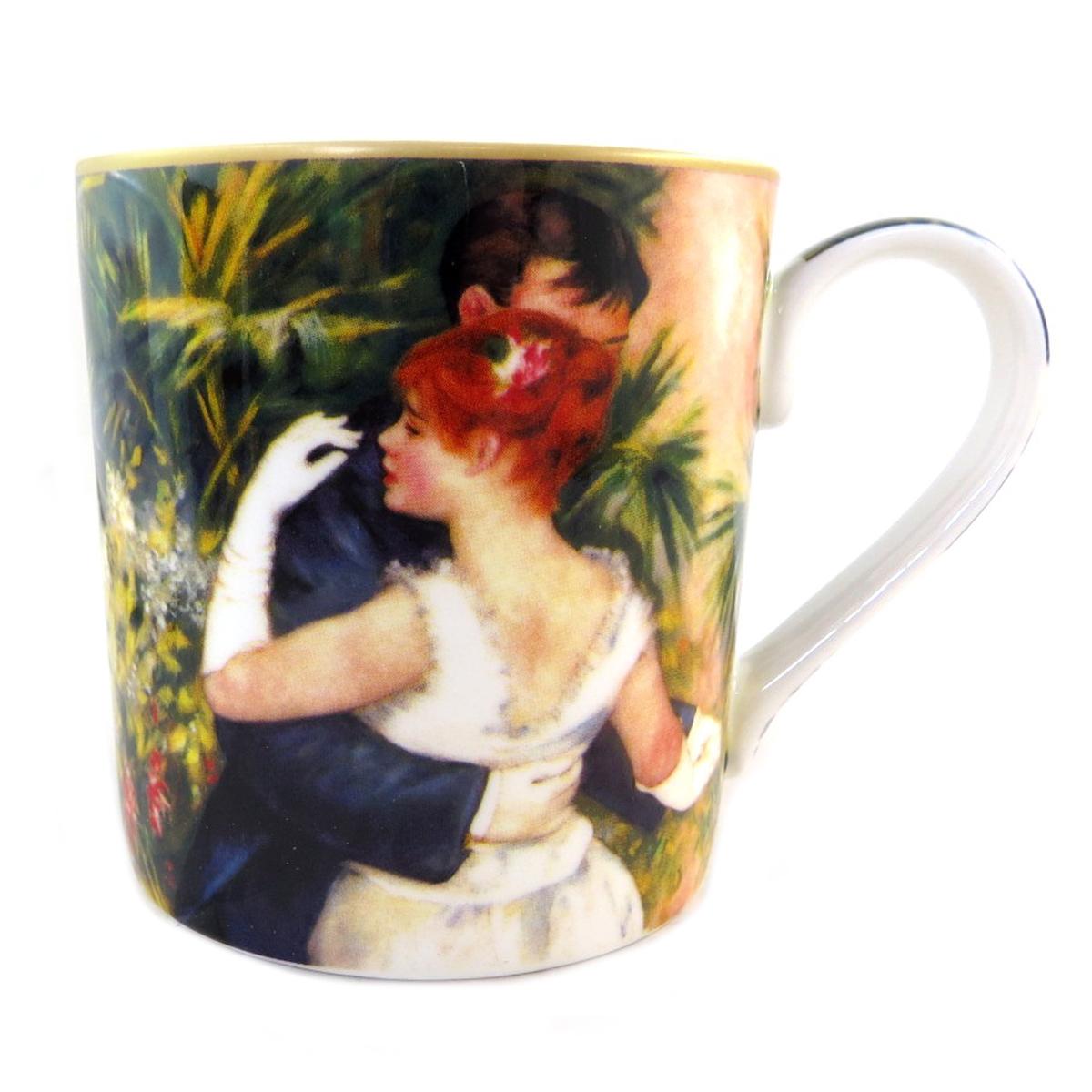 Mug porcelaine \'Auguste Renoir\' (Danse à la ville) - 12x85 cm (38 l) - [Q0212]