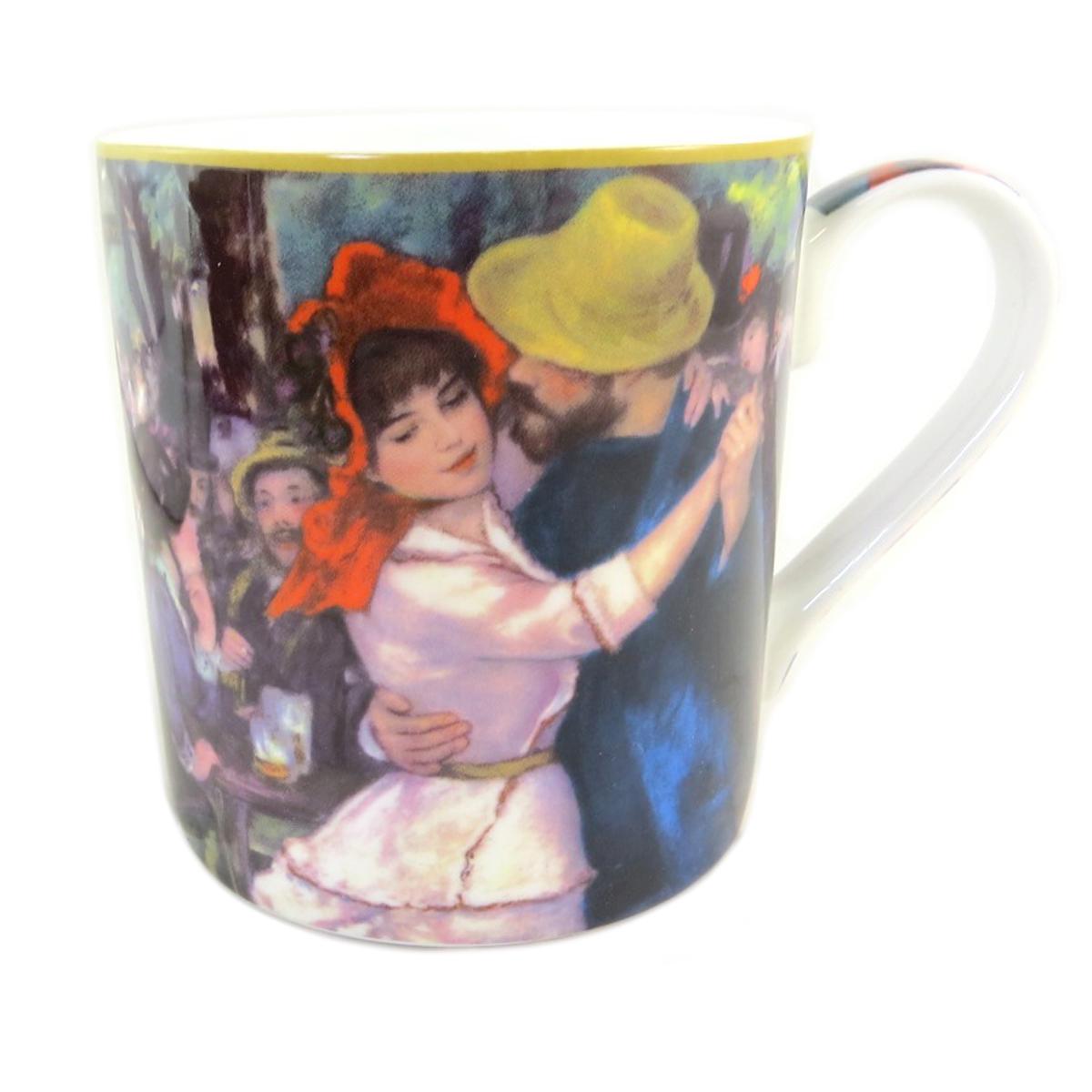 Mug porcelaine \'Auguste Renoir\' (Danse à Bougival) - 12x85 cm (38 l) - [Q0213]