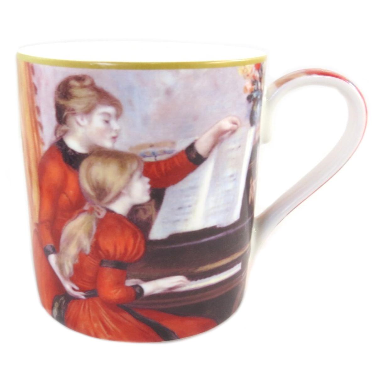 Mug porcelaine \'Auguste Renoir\' (la leçon de piano) - 12x9 cm (38 l) - [Q0215]