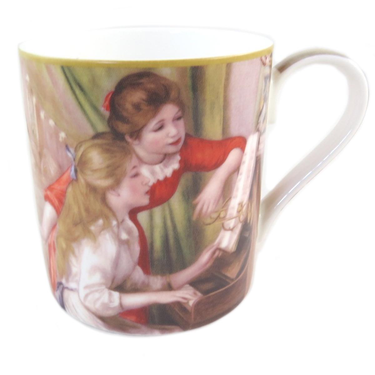 Mug porcelaine \'Auguste Renoir\' (jeunes filles au piano) - 12x9 cm (38 l) - [Q0216]