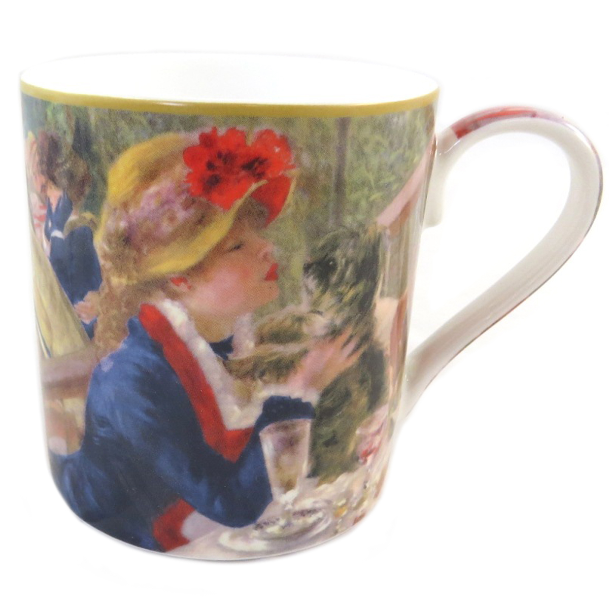 Mug porcelaine \'Auguste Renoir\' (Déjeuner des canotiers) - 12x9 cm (38 l) - [Q0217]