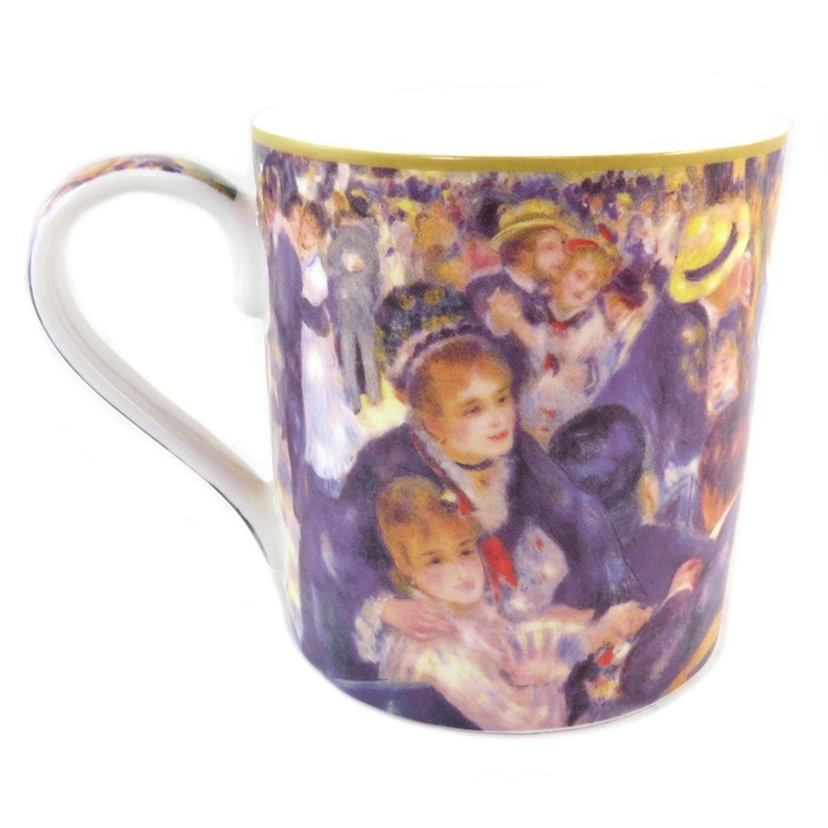 Mug porcelaine \'Auguste Renoir\' (Bal du moulin de la galette) - 12x9 cm (38 l) - [Q0218]
