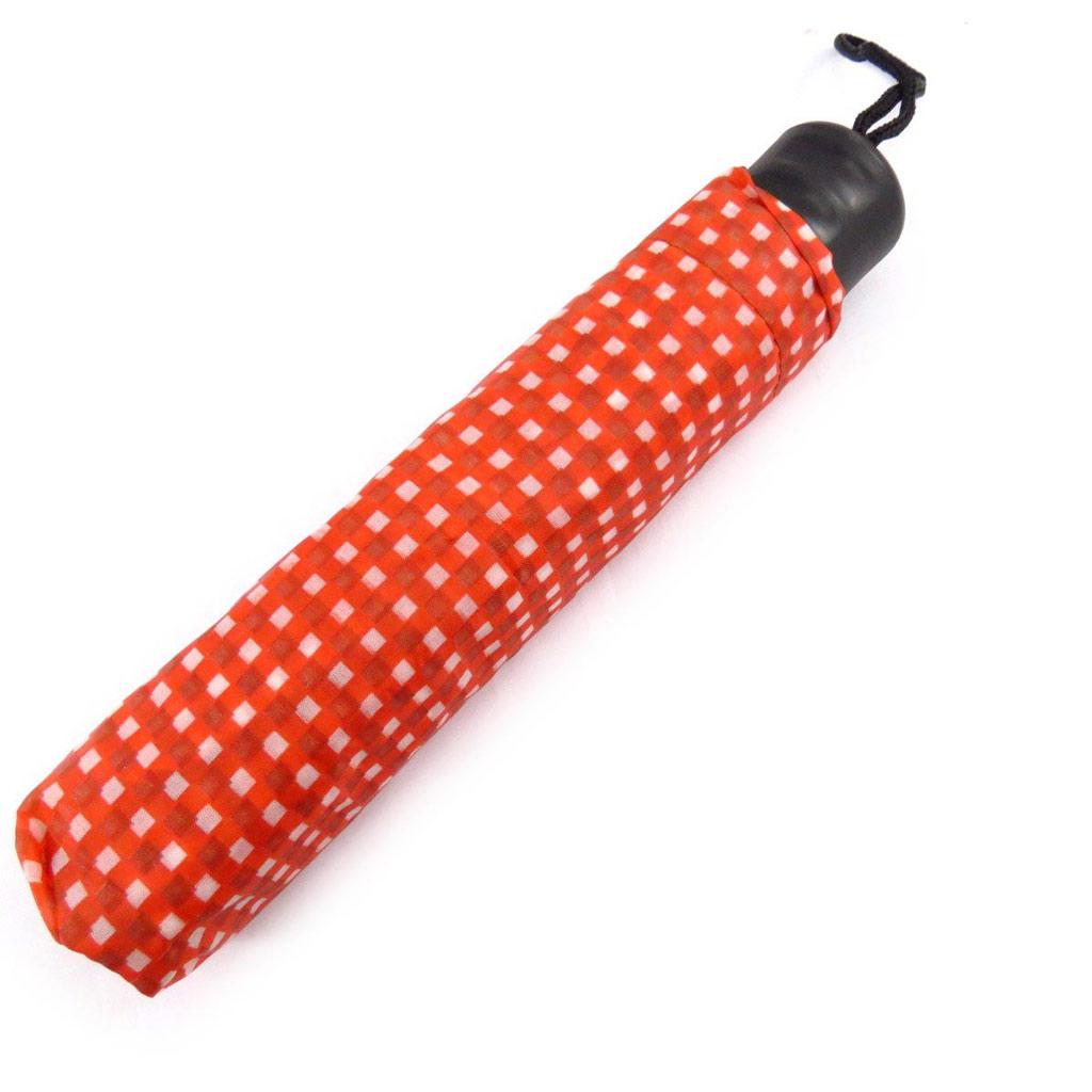 Parapluie créateur \'Bayadère\' rouge - [J7089]