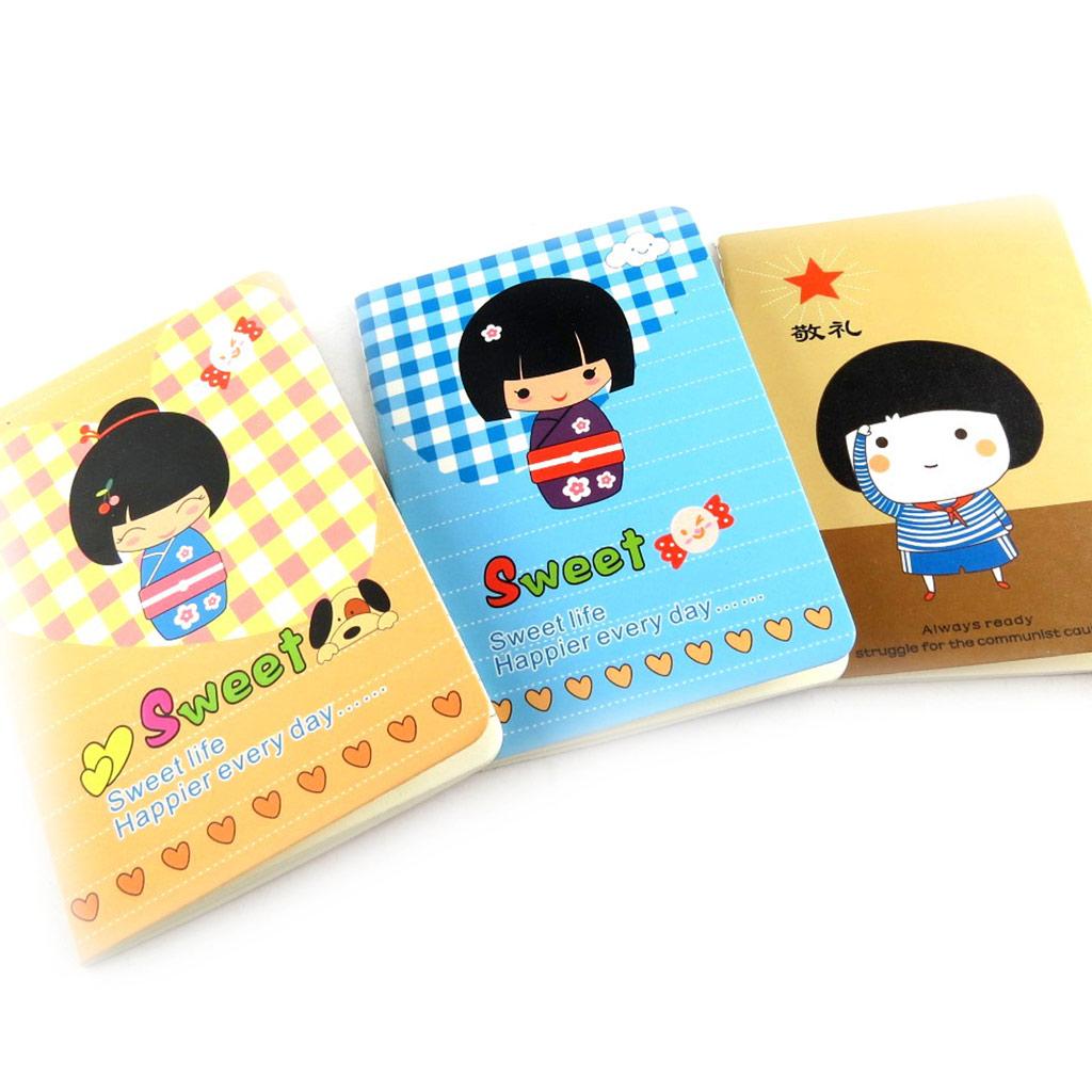 3 petits carnets de notes \'Geisha\' tutti frutti - [K7871]