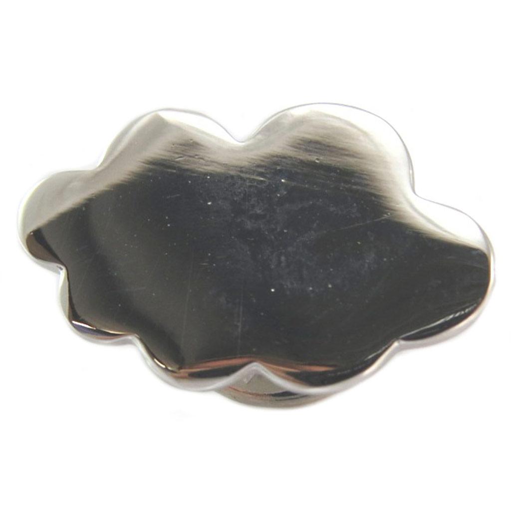 Broche pin\'s artisanal \'Nuage\' argenté - 20x13 mm - [P5893]