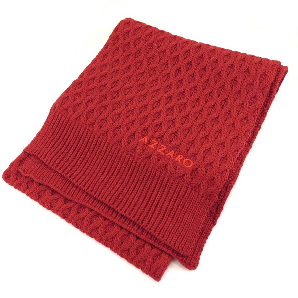 Echarpe gaufrée \'Azzaro\' rouge  - [K7949]