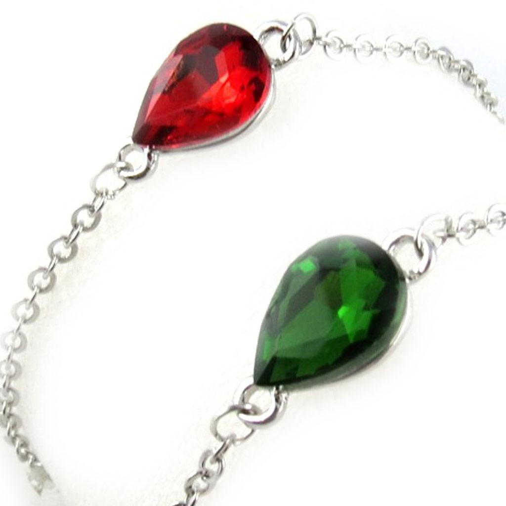 2 bracelets \'Scarlett\' rouge vert - [K8038]