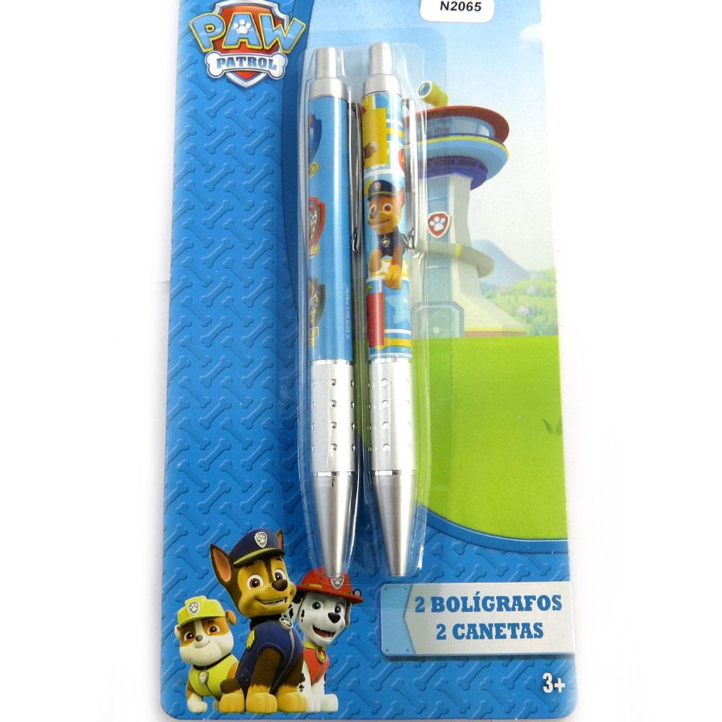 2 stylos \'Paw Patrol - Pat\' Patrouille\' bleu argenté - [N2065]