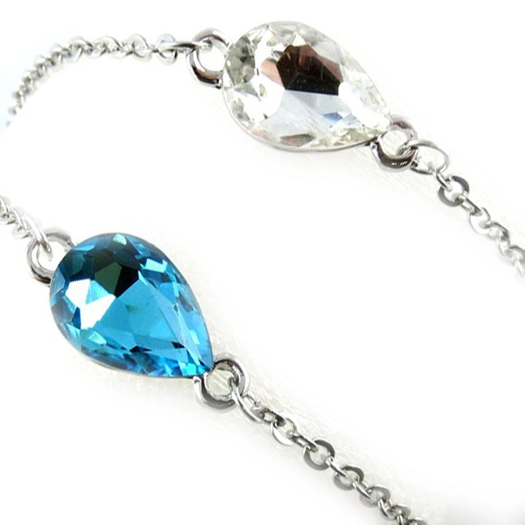 2 bracelets \'Scarlett\' turquoise blanc - [K8041]