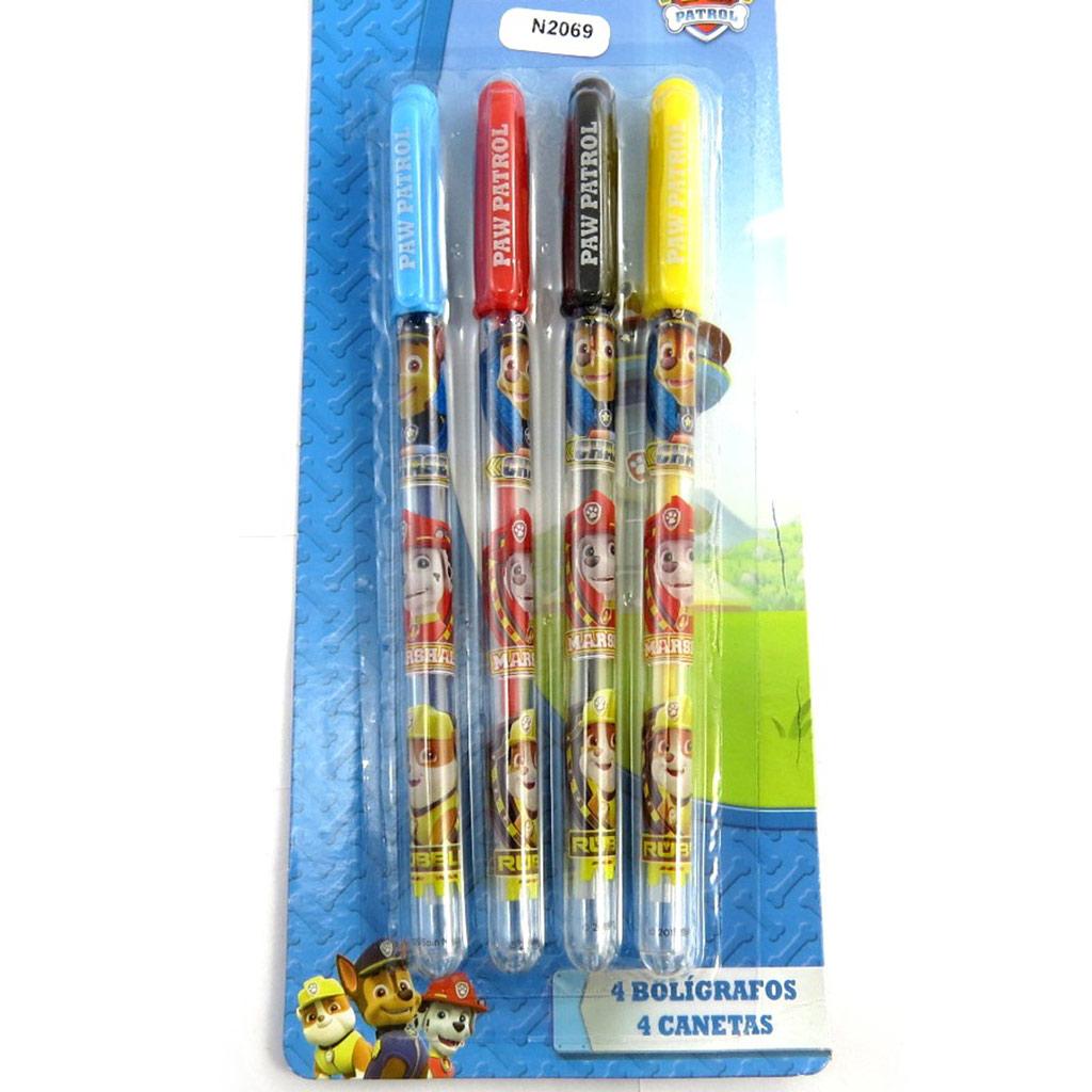 4 stylos gel \'Paw Patrol - Pat\' Patrouille\' multicolore - [N2069]