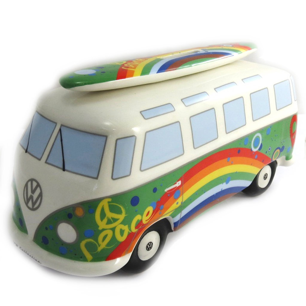 Tirelire céramique \'Volkswagen\' vert multicolore - - 24x105x95 cm - [N2077]