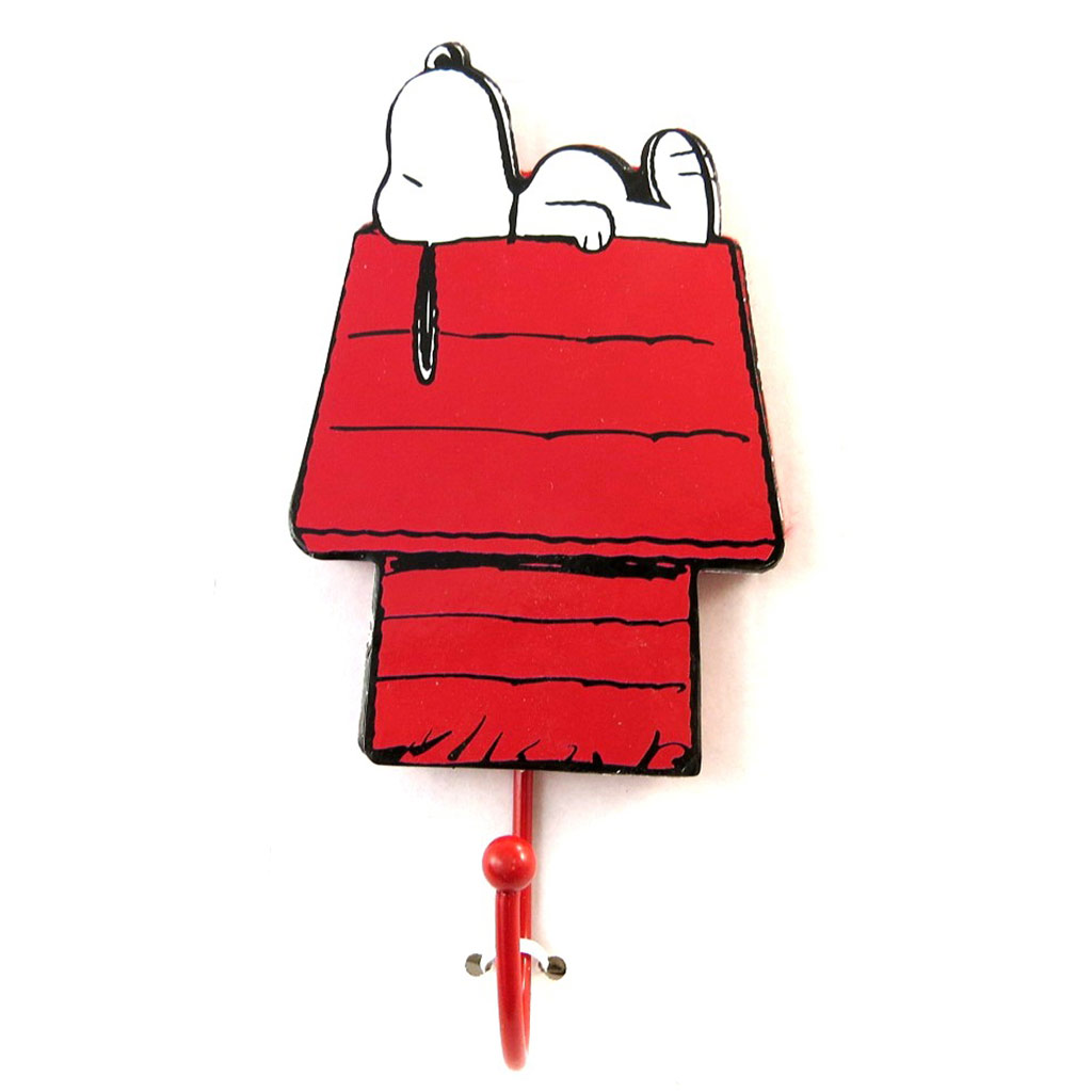 Patère \'Snoopy\' rouge (niche)  - [N2087]