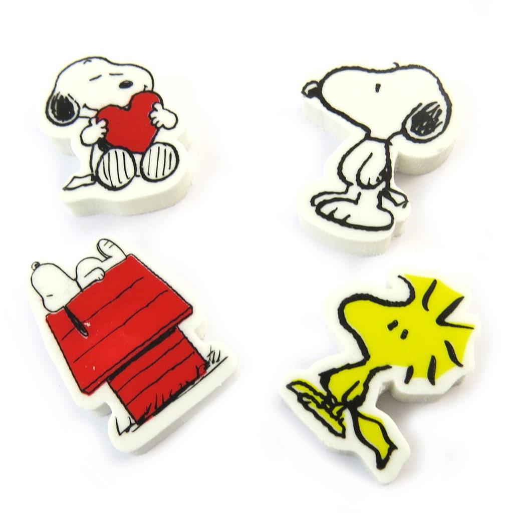 Set de 4 gommes \'Snoopy\' multicolore - [N2096]