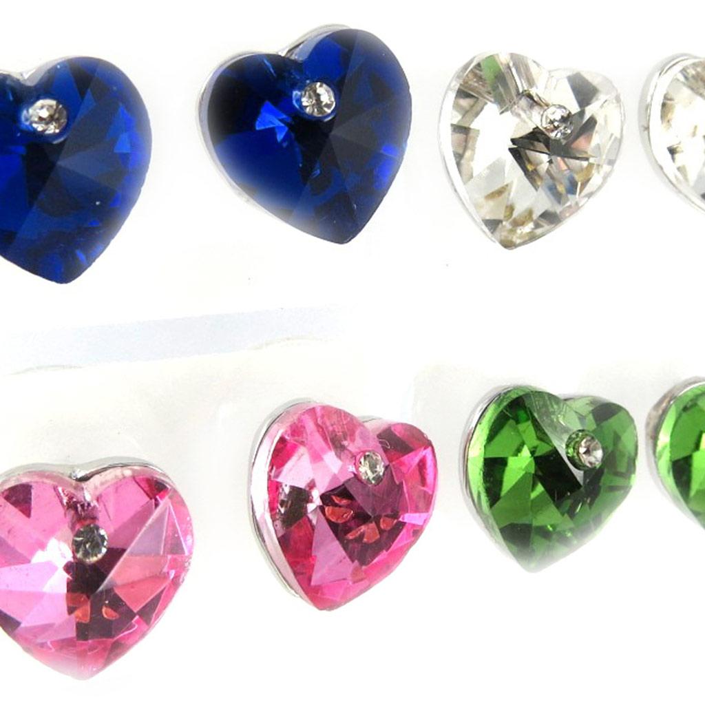 4 paires de boucles \'Love\' tutti frutti - [K8079]