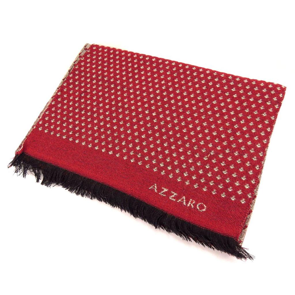 Echarpe laine \'Azzaro\' rouge taupe  - [K8096]