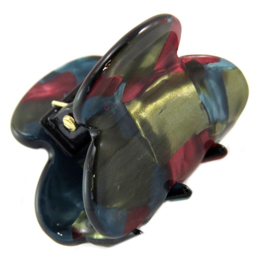 Mini pince créateur \'Sissi\' vert rose bleu - 30x20 mm - [P6075]