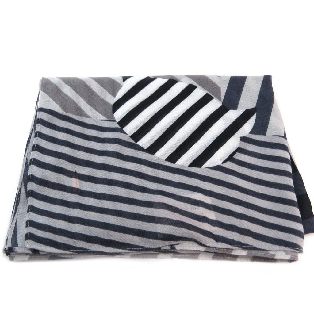 Carré foulard \'Lollipops\' gris (chat) - 122x122 cm - [P6152]