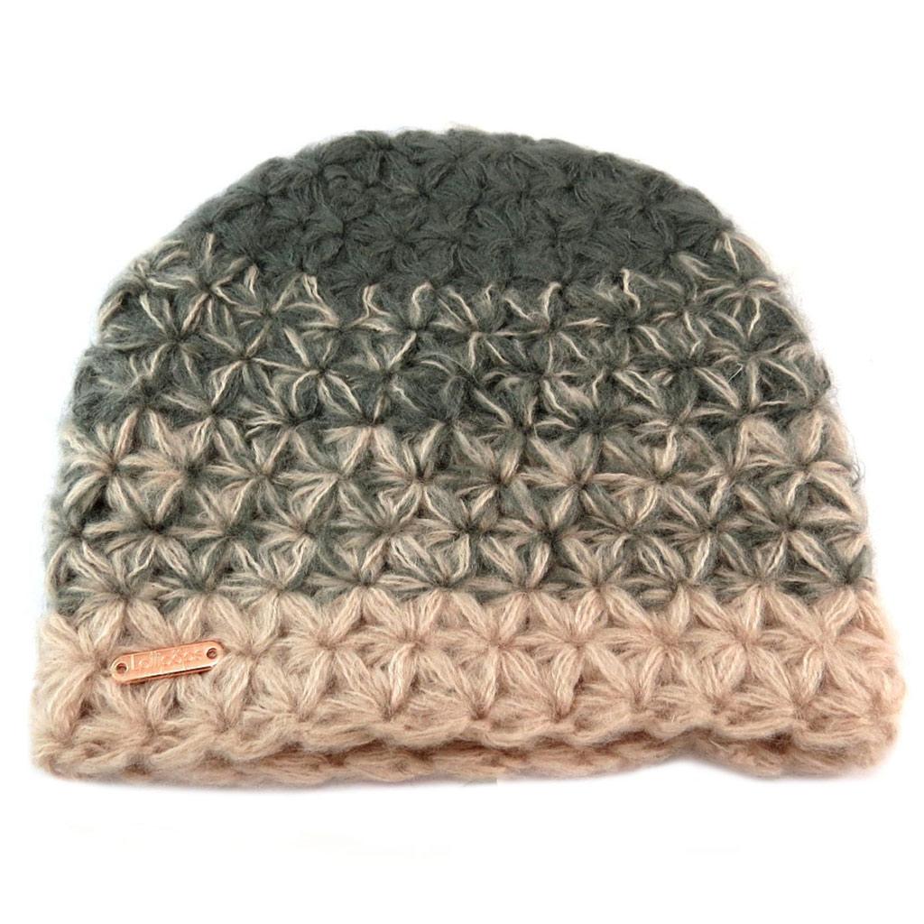 Bonnet maille \'Lollipops\' rose gris - [P6161]